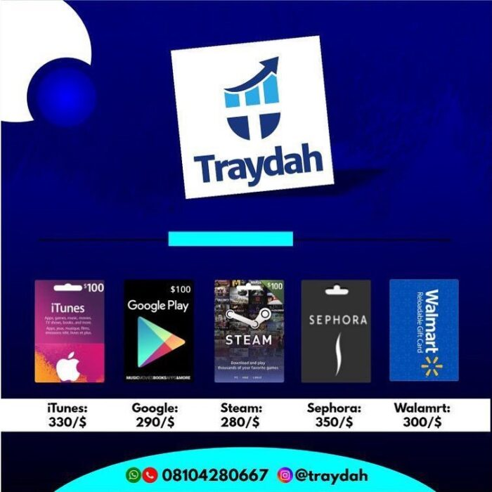 Scam or Real !!! – Traydah Bitcoin and Gift card Sellers – www.Traydah.com